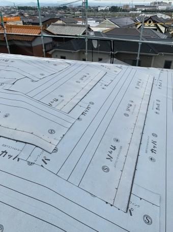 重ね葺き ガルバリウム鋼板