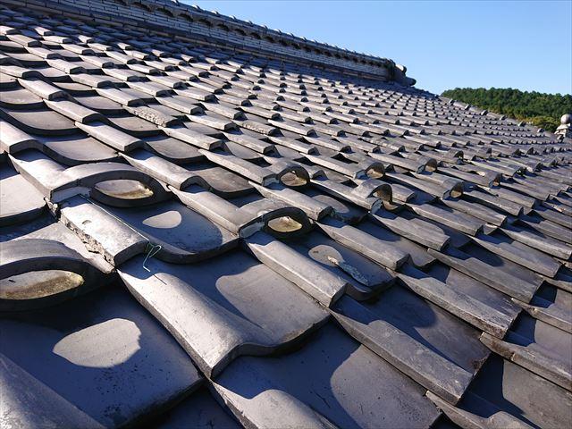 屋根の点検 漆喰の劣化