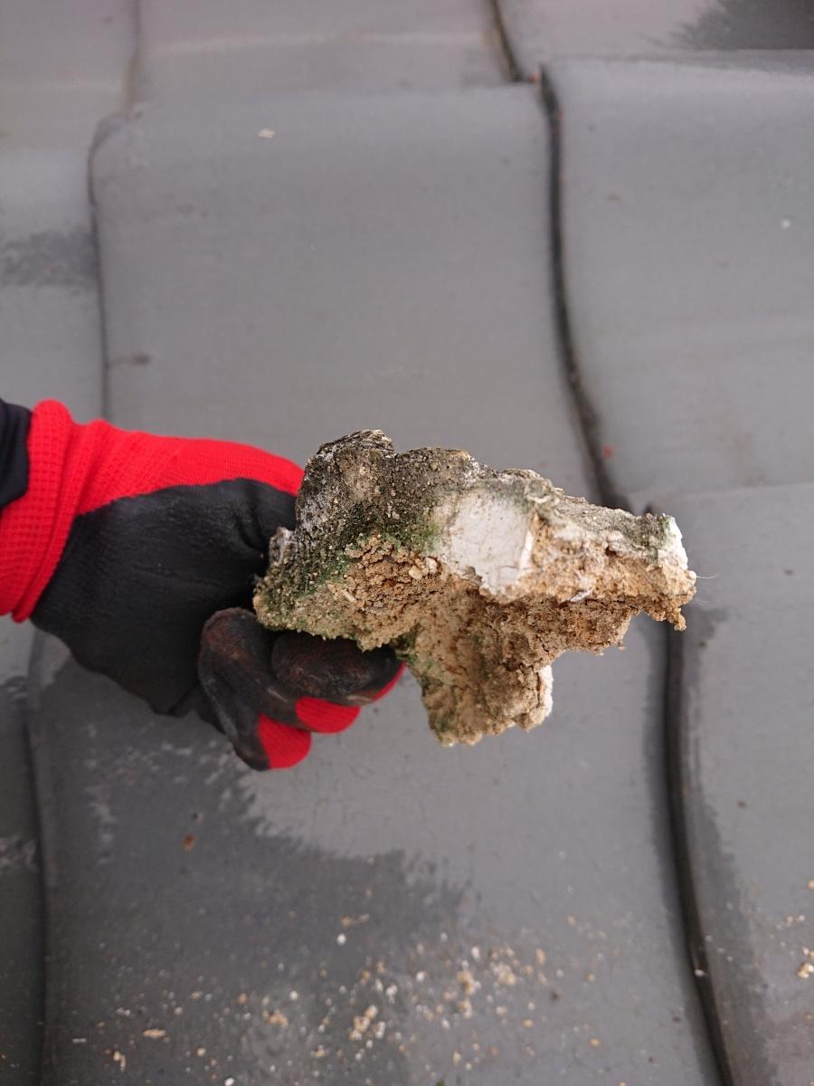 屋根点検 漆喰の劣化