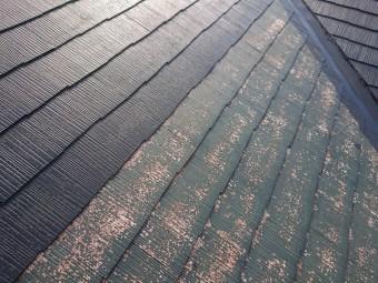 スレート屋根の塗装 下塗りと中塗り