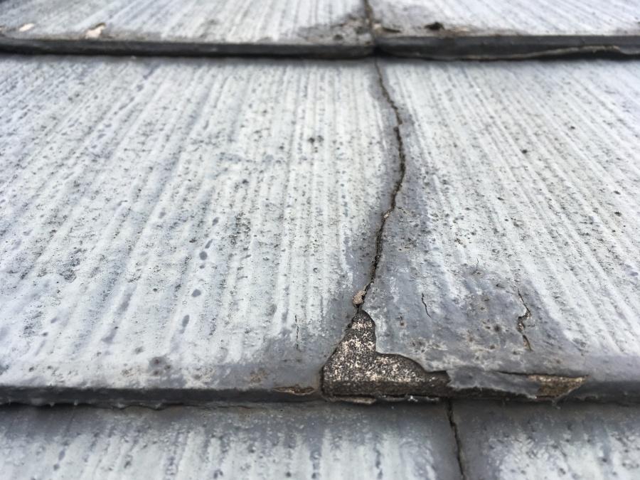 スレート屋根の劣化 カバー工法