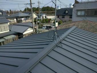 縦ひら屋根葺き