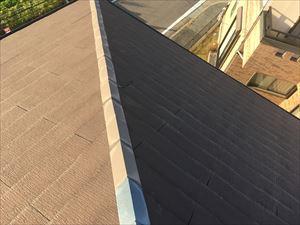 スレート屋根 棟板金 飛散