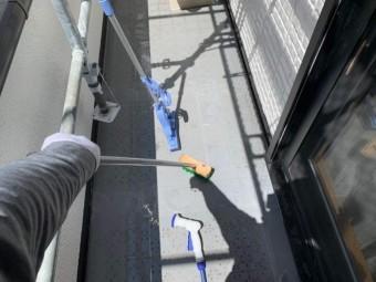 ベランダ防水工事 清掃