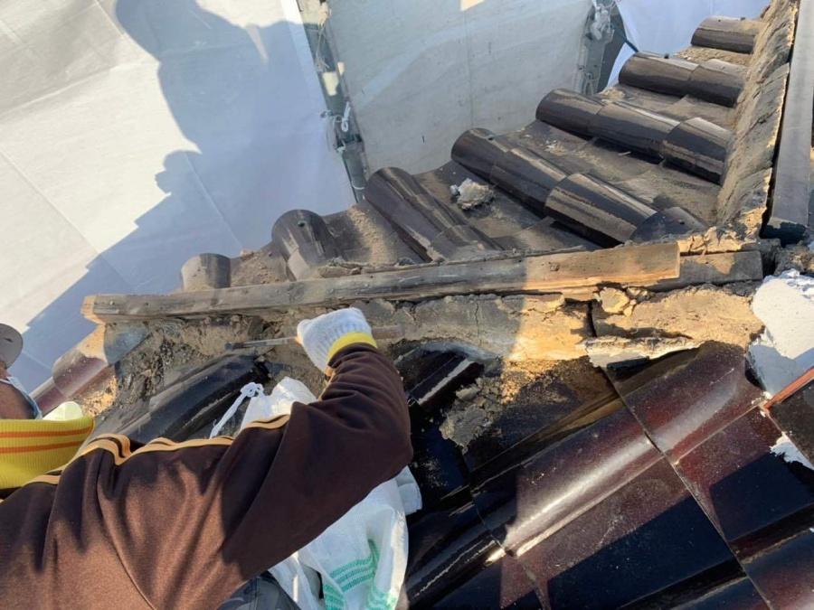 雨漏り 補修 積み直し工事