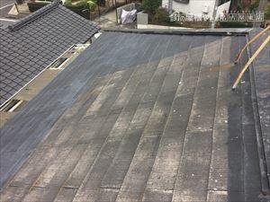 屋根点検 カラーベスト スレート 褪色 色褪せ 塗装 カバー工法 重ね葺き