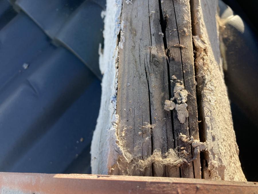 棟木の腐食