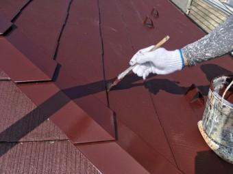 スレート屋根 塗装工事