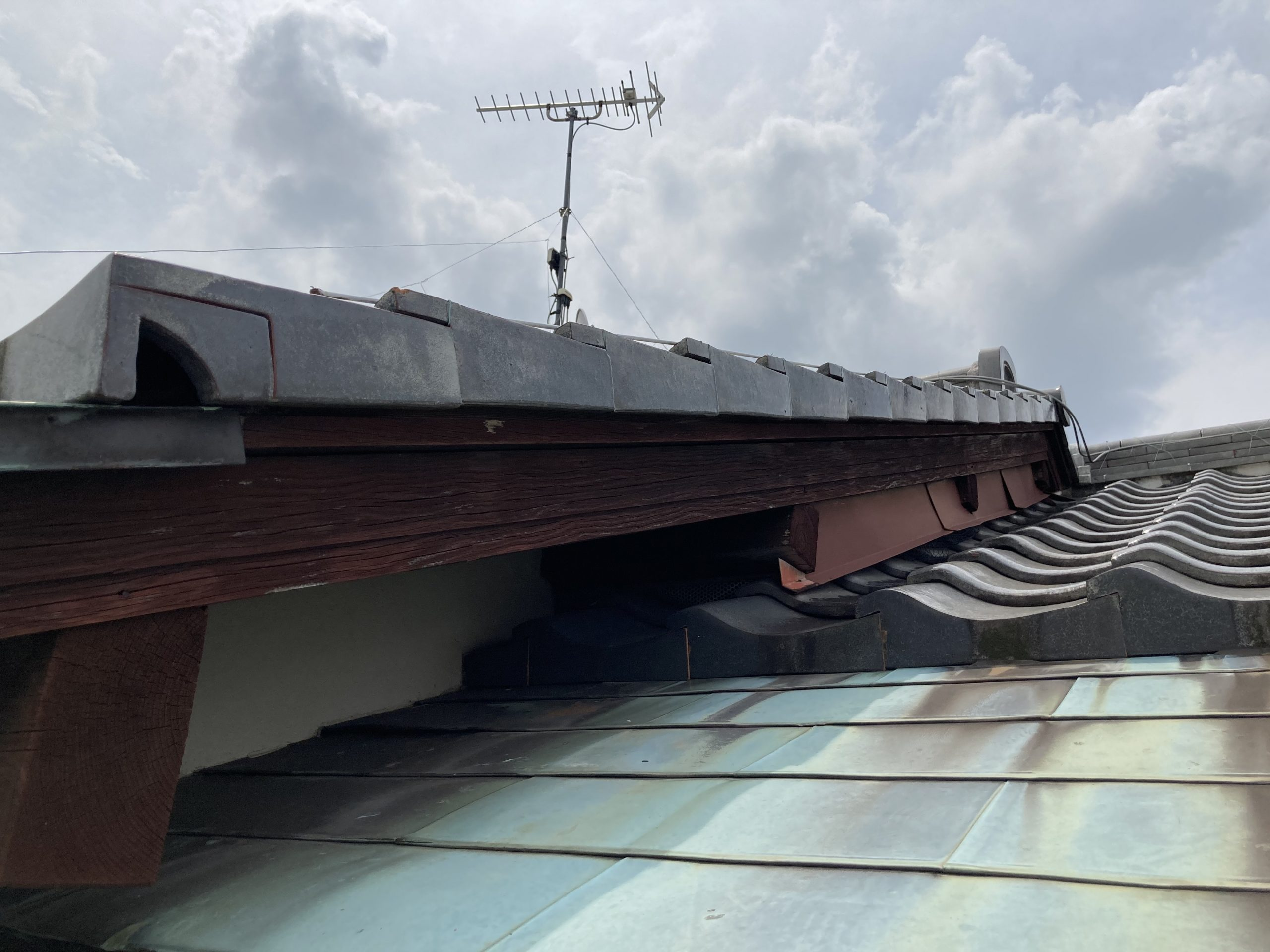雨漏り 銅板