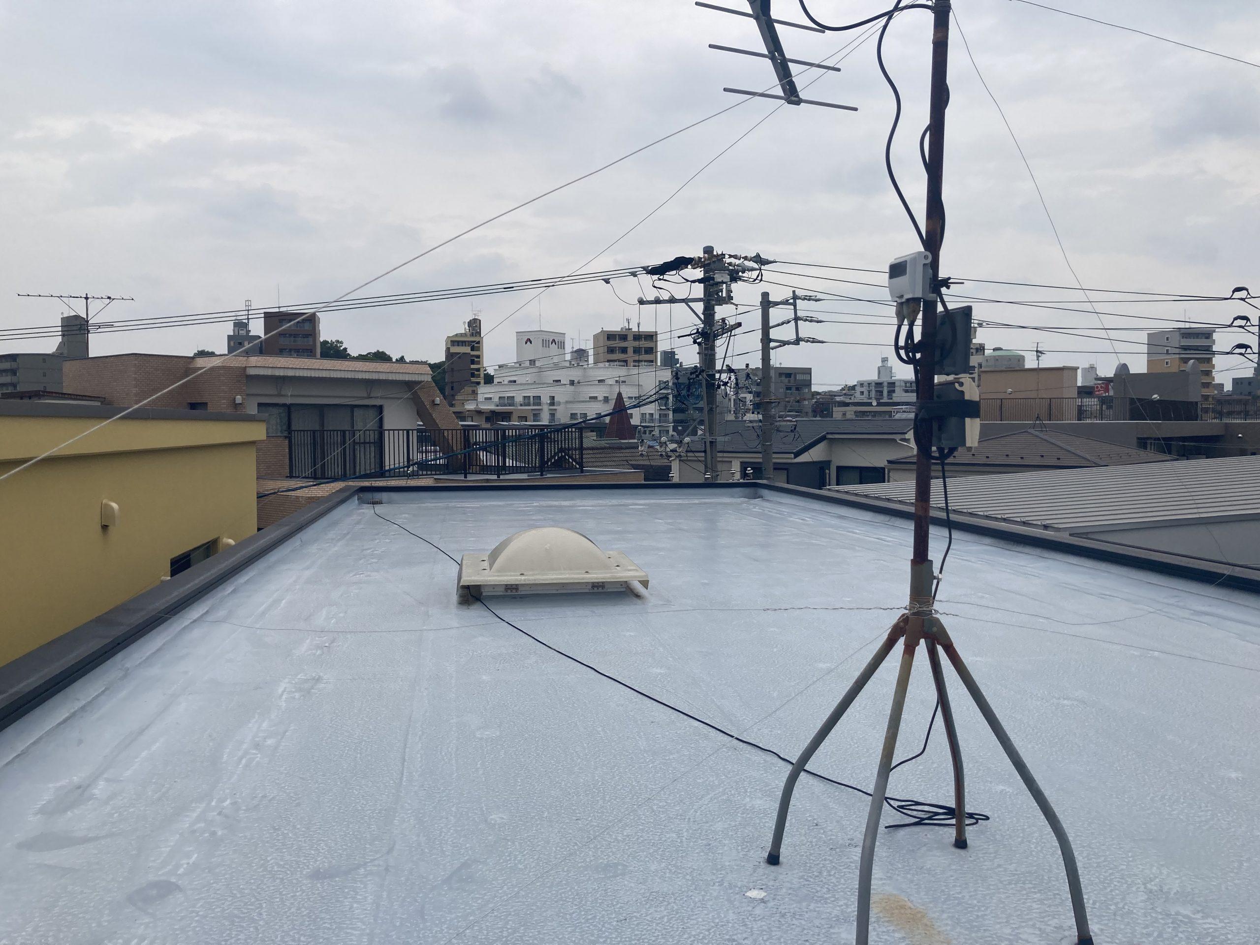 名古屋市千種区で劣化の進行した屋上防水を点検してきました