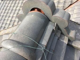 瓦屋根 漆喰 剥離 雨漏り