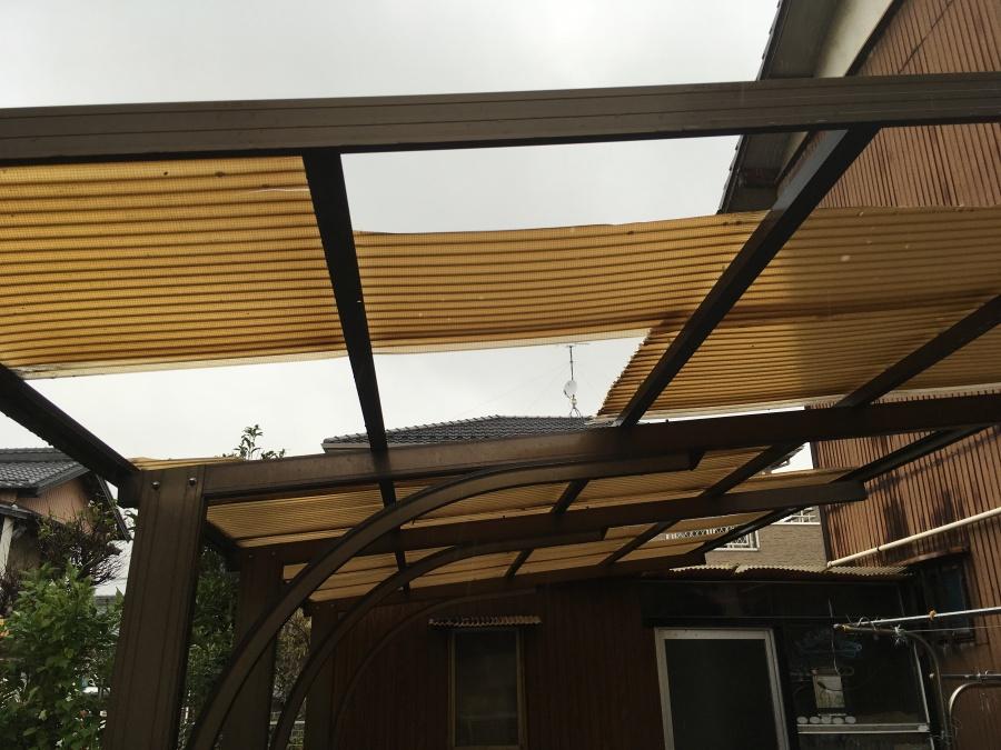波板 破損・飛散 台風被害