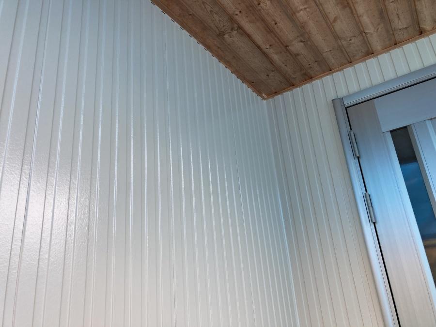 玄関部分塗装後