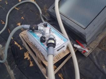 シールドサクション工法収納容器