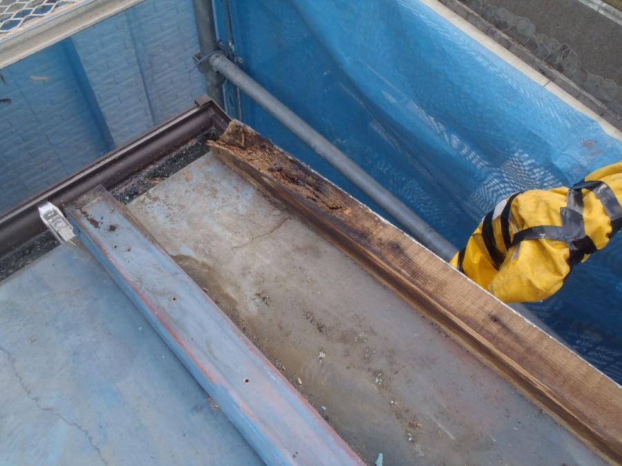板金屋根垂木の腐り