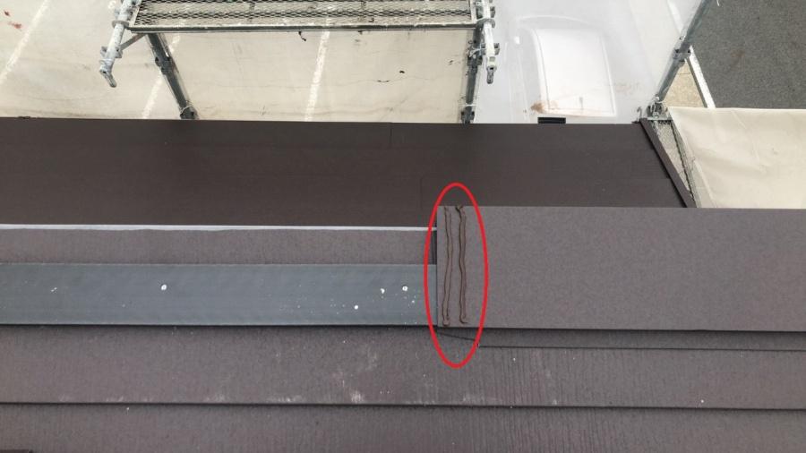 屋根カバー工法 棟板金取付