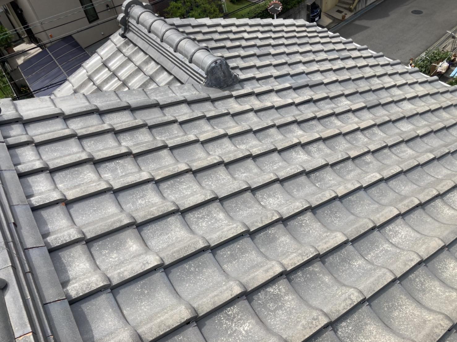 名古屋市名東区にて雨漏りが発生中の瓦屋根の無料点検を実施