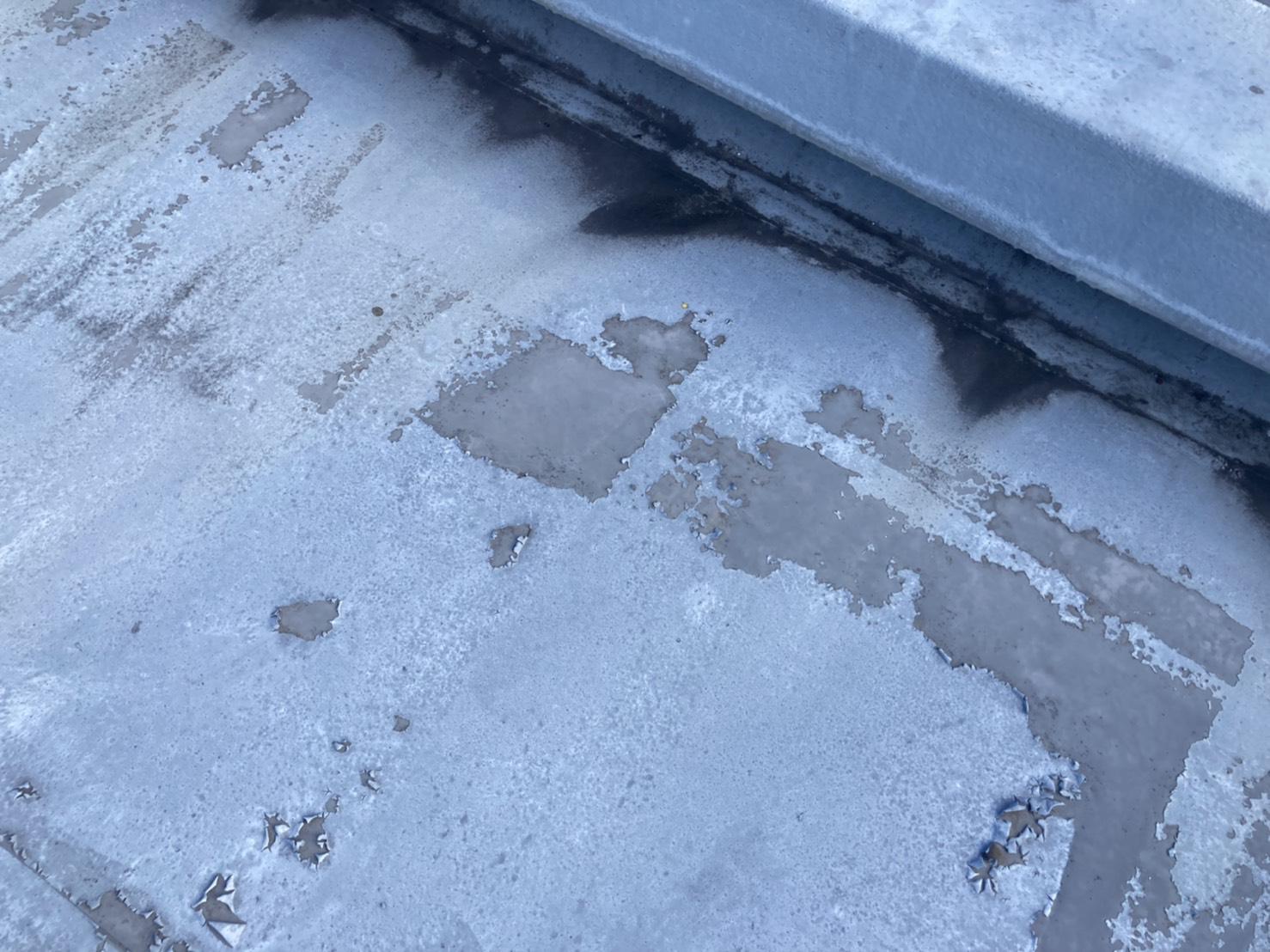 名古屋市名東区で年数の経った屋上・ベランダ防水の点検