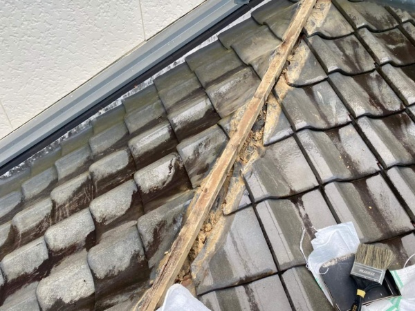 棟の取り直し工事 下地の腐食状況 劣化
