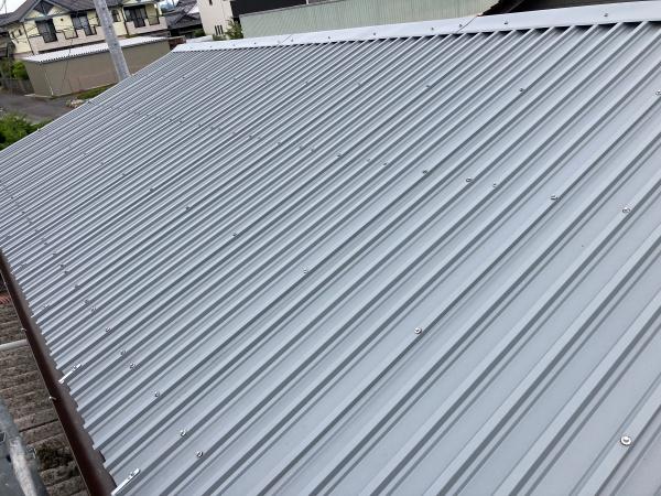 施工後 屋根カバー工法 全景