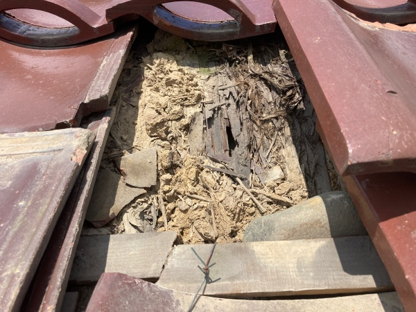 杉皮の穴 浸水する可能性あります