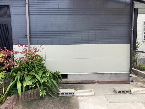 外壁の部分張替え後の様子 別角度