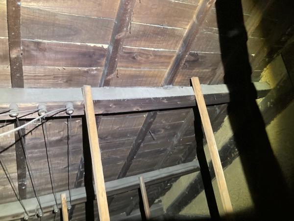 小屋裏 雨漏りの調査