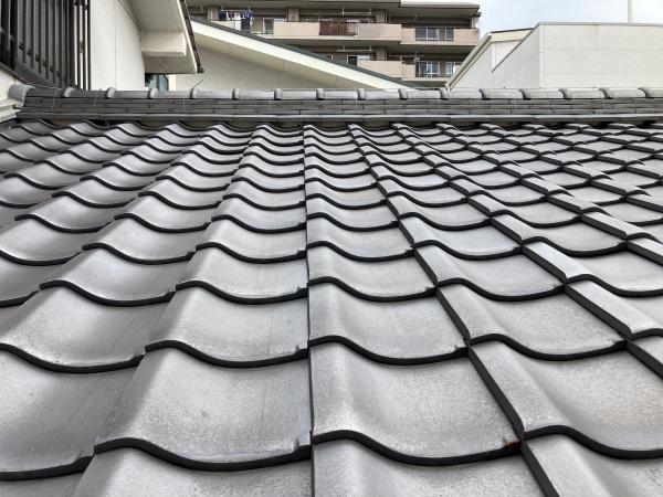 長久手市で屋根診断を実施しました。瓦屋根の漆喰は補修が必要です