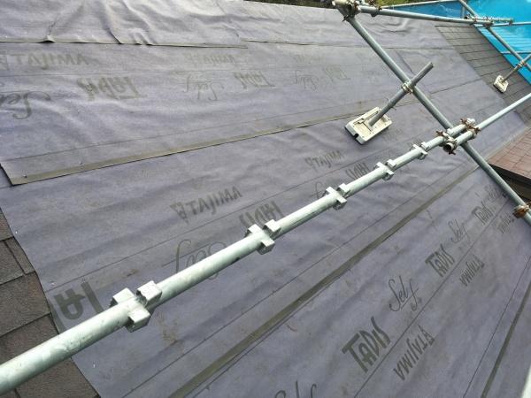 台風被害でアスファルトシングルにめくれが発生 補修後