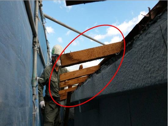 屋根垂木カット