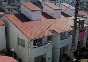 屋根や採光部の外壁の傷み